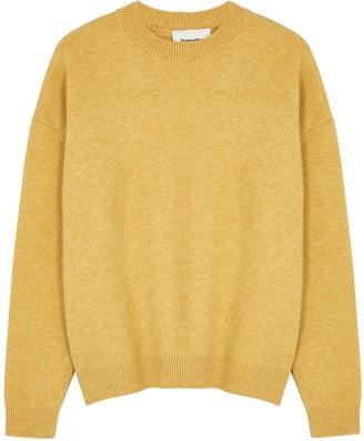 Nanushka Junia Mustard Wool-blend Jumper