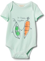Gap Organic food pair bodysuit