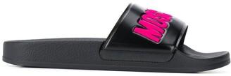 Moschino Logo-Print Pool Slides