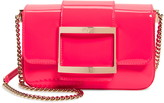 Roger Vivier Micro Tres Vivier Micro Patent Leather Crossbody Bag