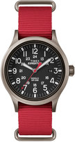 Timex Men's Expedition Scout Red Nylon Strap Watch 49mm TW4B04500JT