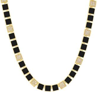 Freida Rothman Harmony Black Enamel Collar Necklace