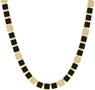 Freida Rothman Harmony Black Enamel Collar Necklace