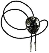 The Perfect Necktie - Plated Metal - Leather Western Bolo Tie