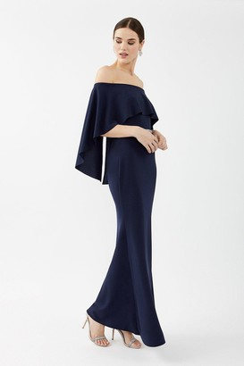 Coast Bardot Caped Maxi Dress
