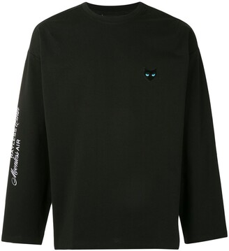 Zzero Cat Patch Long-Sleeved Top