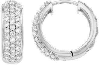 14k White Gold 1 Carat T.W. Lab-Grown Diamond Hoop Earrings