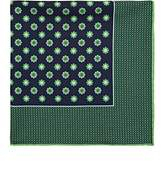 Kiton Men's Floral Silk Twill Pocket Square