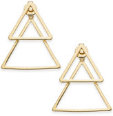 INC International Concepts Gold-Tone Triangle Front and Back Earrings, Created for Macy's