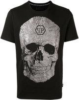 Philipp Plein textured skull T-shirt