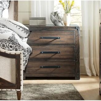 Hooker Furniture Roslyn County 3 - Drawer Nightstand in Dark Walnut