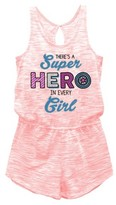 Captain America Girls' Captain America Romper - Coral