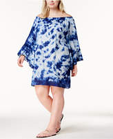 Raviya Plus Size Tie-Dyed Off-The-Shoulder Cover-Up