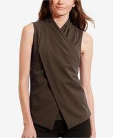 Lauren Ralph Lauren Petite Jersey Surplice Shirt