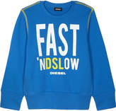 Diesel Fast 'nDSLow crew neck cotton jumper 8-16 years