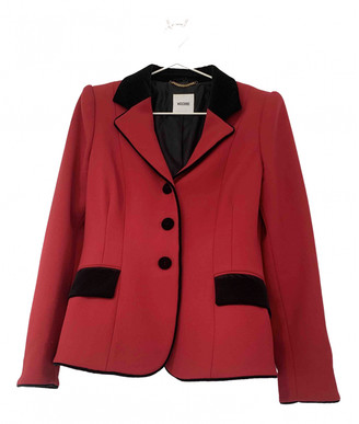 Moschino Red Wool Jackets