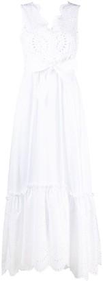 P.A.R.O.S.H. Broderie Anglaise Maxi Dress