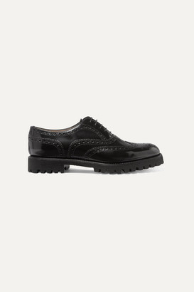 Church's Carla Glossed-leather Brogues - Black
