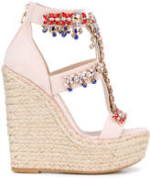 Elie Saab embellished wedge sandals