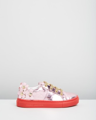 Little Marc Jacobs Metallic Floral Sneakers - Kids