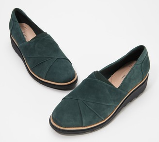 Clarks Collection Suede Loafers - Sharon Form