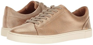 Frye Ivy Low Lace (Gold Metallic Full Grain) Women's Lace up casual Shoes