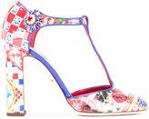 Dolce & Gabbana Mambo print Vally pumps - women - Patent Leather/Leather - 39.5