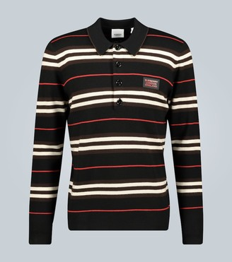Burberry Rigby wool long-sleeved polo shirt