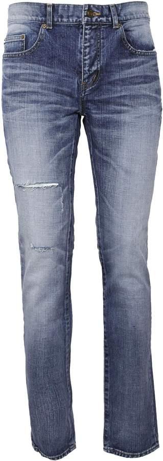 Saint Laurent Light-wash Slim-fit Jeans
