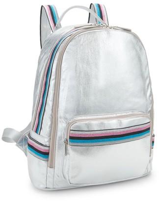 Bari Lynn Rainbow Glittered Backpack