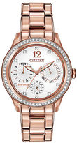 Citizen Ladies Eco Drive Rose Goldtone and Swarovski Crystal Watch