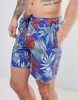 Asos Swim Shorts In Floral Print In Mid Length