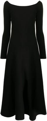 Gabriela Hearst Long-Sleeve Flared Dress