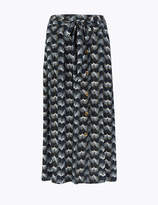 Per Una UsMarks and Spencer Printed Button Front Midi Skirt
