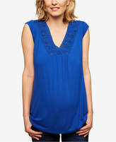 Daniel Rainn Maternity Lace-Trim Tank Top