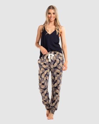 Deshabille Women's Navy Pyjamas - Island Life PJ Set - Size One Size, XS at The Iconic