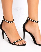 PrettyLittleThing Pearl Strappy Sandals