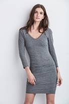 Kesha Gauzy Whisper V-Neck Dress