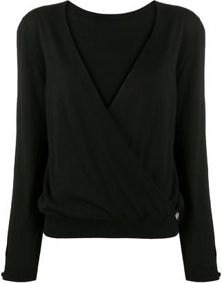 Twin-Set wrap front V-neck jumper