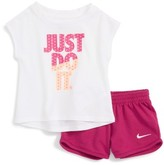 Nike Infant Girl's Just Do It Tee & Shorts Set