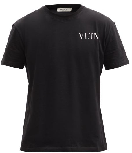 Thumbnail for your product : Valentino print Cotton-jersey T-shirt - Black