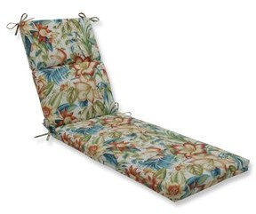 Bay Isle Home Botanical Glow Tiger Lily Outdoor Chaise Lounge Cushion