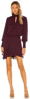 Krisa Drape Front Turtleneck Mini Dress