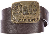 Dolce & Gabbana Pebbled Leather Buckle Belt