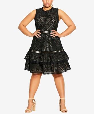 City Chic Plus Size Loving Lace Dress