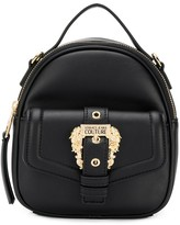 Versace baroque buckle top handle shoulder bag