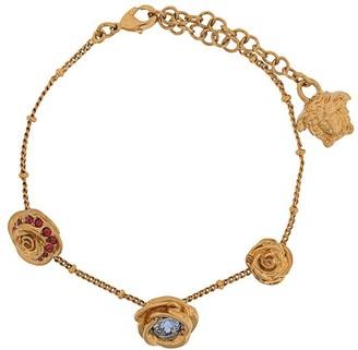 Versace Medusa floral charm bracelet