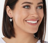 Affinity Diamond Jewelry Affinity 14K Gold Pave Diamond Earrings, 3/4cttw