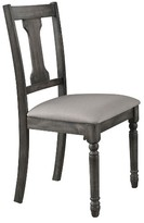 Acme Wallace Side Dining Chair (Set of 2) - Weathered Blue Washed