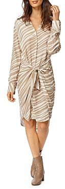 Habitual Talia Tie-Front Shirt Dress